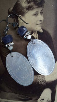 Lady Luck  Antique Assemblage Earrings by VintageTraveler on Etsy, $52.00