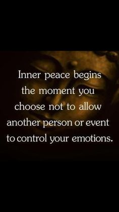 Inner peace begins the moment you choose not to allow another person or event to control your emotions. Yeah baby, this is totally  #WildlyAlive! #selflove #fitness #health #nutrition #weight #loss LEARN MORE →  www.WildlyAliveWeightLoss.com