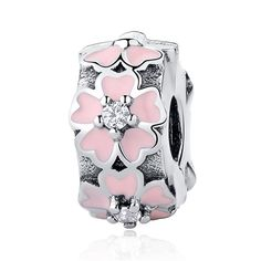 Authentic 100% 925 Sterling Silver Bead Charm Daisy Clip Safety Stopper Beads Fit Original Pandora Bracelet & Bangle Necklace