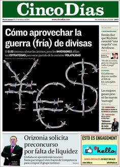 Los Titulares y Portadas de Noticias Destacadas Españolas del 16 de Febrero de 2013 del Diario Cinco Días ¿Que le parecio esta Portada de este Diario Español?