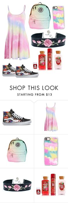 """""""Tie dye Princess"""" by cuddykat ❤ liked on Polyvore featuring Vans and Casetify"""