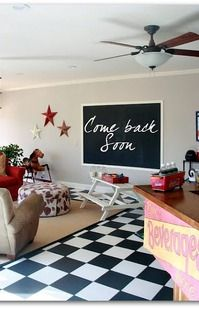 Game Room-DIY chalk board idea for Katie's maybe basement