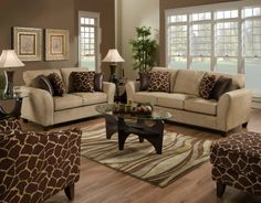 living rooms with cream couches - Google Search.. like animal print with cream!