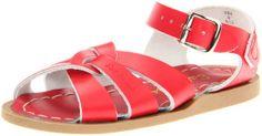 Salt Water Sandals By Hoy Shoe The Original Sandal,Red,7 M US Big Kid/ 9 M US Women's