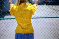 yellow dotted shirt - Chandi