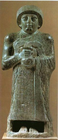 Statue of Prince Gudea, Neo Sumerian Period, C. 2130 b. c.