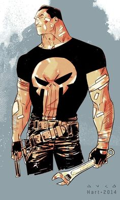AWESOME WARNING: Just in case you need a reminder....#Punisher MAX - Kris Anka #PunisherApproved