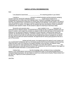 Sample-Letter-of-Recommendation-for-Teaching-Position | reading ...