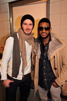 This. Is. Too. Much. Fineness. In. One. Picture.  Usher Raymond IV and David Beckham <3