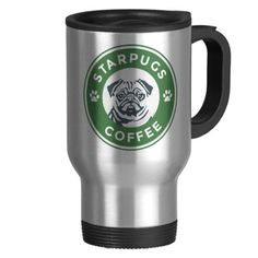 STAR PUGS COFFEE Stainless Steel Travel Mug       >>>>> Buy it now    http://amzn.to/2by1Rei