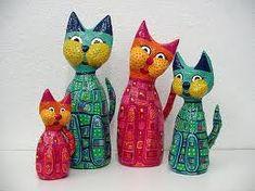 gatos de papel mache - Pesquisa Google