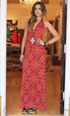 colorful maxi dress at Viva
