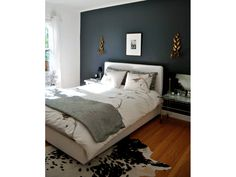 My current color obsession: Farrow & Ball's Hague Blue. It is truly the most deep and wonderful navy blue I've ever seen. It is the most inky blue with black undertones, I love it. It's deep and intense and modern and yet totally classic.