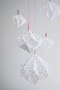DIY: origami lamp