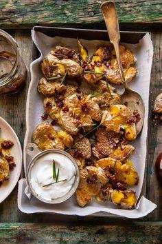 Vegetable Sides, Vegetable Recipes, Side Dish Recipes, Side Dishes, Quick Recipes, Amazing Recipes, Summer Recipes, Main Dishes, Crispy Smashed Potatoes