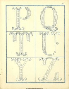 Free Easy Cross, Pattern Maker, PCStitch Charts + Free Historic Old Pattern Books: Fr - Alexandre Hand Embroidery Art, Embroidery Alphabet, Embroidery Monogram, Embroidery Fonts, Vintage Embroidery, Ribbon Embroidery, Embroidery Patterns, Monogram Alphabet, Monogram Fonts