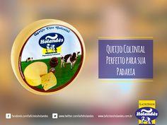 Queijo Colonial  O Queijo Colonial Holandês é um queijo de sabor marcante e textura macia. A tecnologia e segurança de produção, garante um produto saudável e delicioso. Com 30 dias de maturação, é perfeito para aperitivos e receitas à base de queijo.