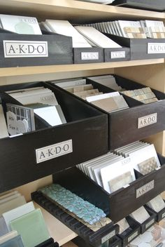 AKDO tile samples.......to flip through little samples and keep them neat