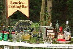 ideas for setting up a bourbon tasting bar