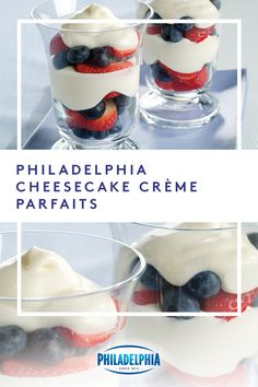 Create the perfect July 4th dessert in only 10 minutes.  Top fresh berries with a mix of PHILADELPHIA Cream Cheese and JET-PUFFED Marshmallow Crème, then watch them disappear. #ItMustBeThePhilly