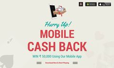 Hurry Up! One More Day To Go. Win Upto Rs.50,000 With Our Mobile Cash Back Offer.  Download our App Now!  #rummy #onlinerummy #mobilerummy #mobilegames #games #onlinegames