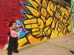 Pic by @gofive and his daughter #Boston #jamaicaplain #massachusetts #bostonstreetart #rasterms #sevenurbanpoets #punksthugsandvandals #worldwide