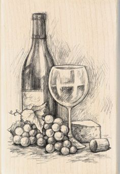 Inkadinkado Mounted Rubber Stamp 4 75 Wine&Cheese is part of pencil-drawings - pencil-drawings Pencil Sketch Drawing, Pencil Art Drawings, Shading Drawing, Cool Art Drawings, Art Drawings Sketches, Drawing Ideas, Horse Drawings, Drawing Faces, Drawing Tips