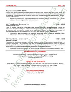 preschool teacher resume sample page 1 teacher curriculum and