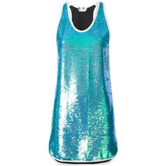 MSGM Sequin Dress (18,805 PHP) ❤ liked on Polyvore featuring dresses, blue, cocktail dresses, msgm dress, msgm, sequin embellished dress, blue dress and sequin dresses