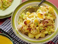 Use **GREEN ONIONS!**Grandma Jean's Potato Salad recipe from Patrick and Gina Neely via Food Network