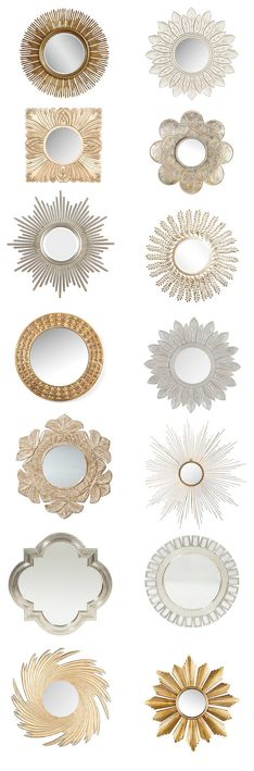 Sunburst mirrors flash sale