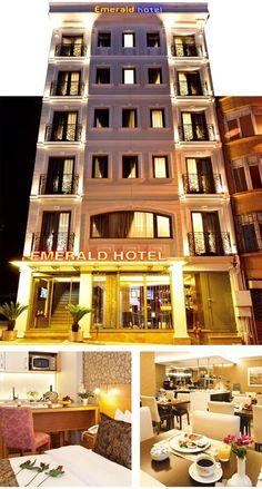 Istanbul Beyoğlu'nda bulunan turistler için seçilebilecek en güzel taksim otelleri arasında yer alan Emerald Hotel