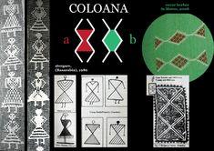 Romanian motif - the column Folk Embroidery, Punch Needle, Hama Beads, Beading Patterns, Pixel Art, Folk Art, Glass Art, Cross Stitch, Symbols