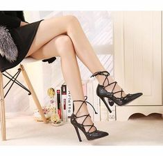 bc293397eed971 WEIQIAONA 2019 New Big Size 35-43 Women Shoes Pumps Gold and White Heels  Sexy High Heels Party Wedding Shoes Hollow Lace-up. sheheonline. Toe shape   pointed ...