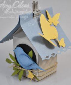Milk Carton Die Birdhouse - Ustamp4fun.com - Amy Celona, Stampin' Up! Demonstrator
