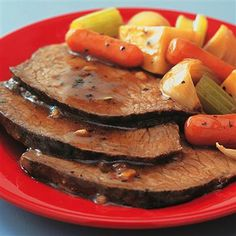Savory Pot Roast - Savory aromas entice you as this easy meal-in-one gently simmers in the slow cooker. Choose a boneless chuck roast for the richest taste or a rump roast if you prefer lower fat.