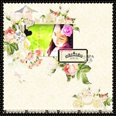 "Webster's Pages Digital Layout using ""In Love"" collection by DT member Mitsue Iwata.  TFL!"