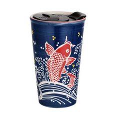 Handpainted Ryu Dragon Design Porcelain Travel Mug Double Wall | Etsy Asian Design, Fish Design, Dragon Design, Paint Designs, Safe Food, Oriental, Porcelain, Hand Painted, Japanese