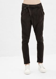 R13 New Crossover Jeans (Black Waxed)