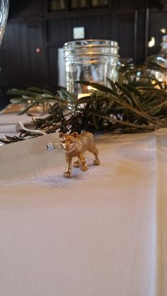 Re-think place cards! They don't have to be paper.  Look how cure these animal name tags were! Happy Days Lodge.