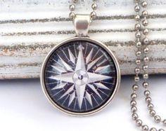 Kompass Halskette Männerschmuck maritime Halskette von Schmucktruhe