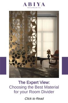 Do you wish to divide space to create another section, define distinct areas, or create privacy without the hassle of renovating? Using decorative room dividers is the trick! ==>> Click the image to learn about who material is best for your Room Divider / Privacy Screen. Decorative Screen Panels, Decorative Room Dividers, Interior Design Tips, Interior Decorating, Metal Room Divider, Room Partition Designs, Privacy Screen Outdoor, Cool Rooms, Contemporary Design