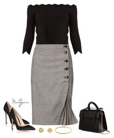 featuring Alexander McQueen, Banana Republic, Gianvito Rossi, Strathberry and Melissa Odabash Office Fashion, Work Fashion, Fall Outfits, Cute Outfits, Fashion Outfits, Fashion Moda, Womens Fashion, Elegantes Outfit, Professional Attire