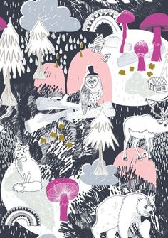 wgsn winter woodland fables. AW 14/15 kids print & pattern.