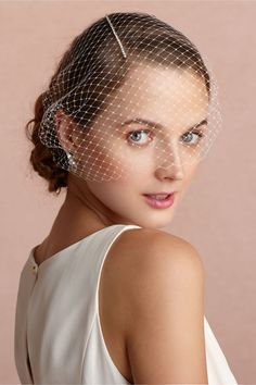 Line-Of-Sight Bandeau Veil in SHOP The Bride Veils & Headpieces at BHLDN