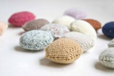Hexipuffs for the Beekeeper's Quilt #knit