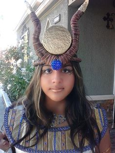 Home made Egyptian goddess Isis costume - I love to help my kids with School Projects!