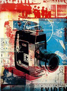 Texas Magazine Zapruder JFK by Alex Williamson Graphic Design Typography, Graphic Design Art, Art Alevel, Gcse Art Sketchbook, Collage Illustration, Unusual Art, Encaustic Painting, Art For Art Sake, Time Art