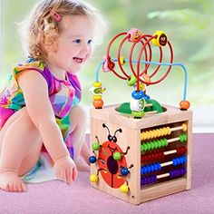 Kids Montessori Wooden Toys Activity Cube 6 in 1 Baby Bead Maze Toy Learning Toys For Children Educational Wooden Math Toys Gift Easy Diy Crafts, Diy Crafts Videos, Diy Crafts To Sell, Diy Crafts For Kids, Activity Cube, Activity Toys, Buddy Holiday, Baby Toys, Kids Toys