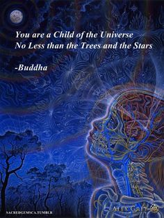 You are a Child of the Universe - no less than the Trees and the Stars. Buddha